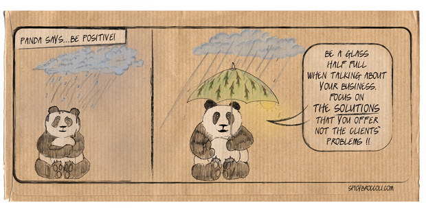 COMIC 01 - PANDA SAYS… BE POSITIVE