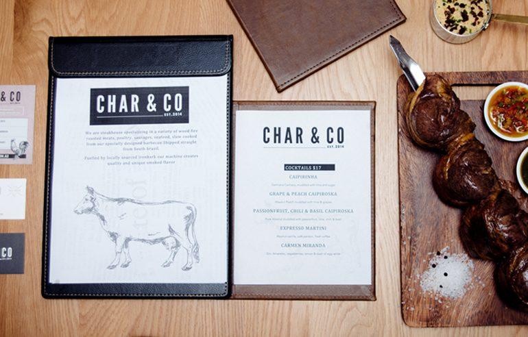 Branding & Website design for Char & Co. Restaurant
