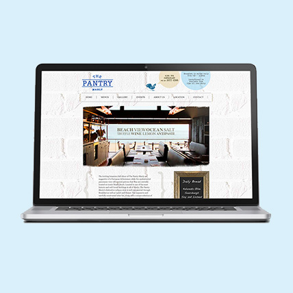 Website Design for The Pantry
