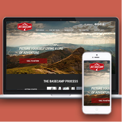 Web design services for Joe's Base Camp