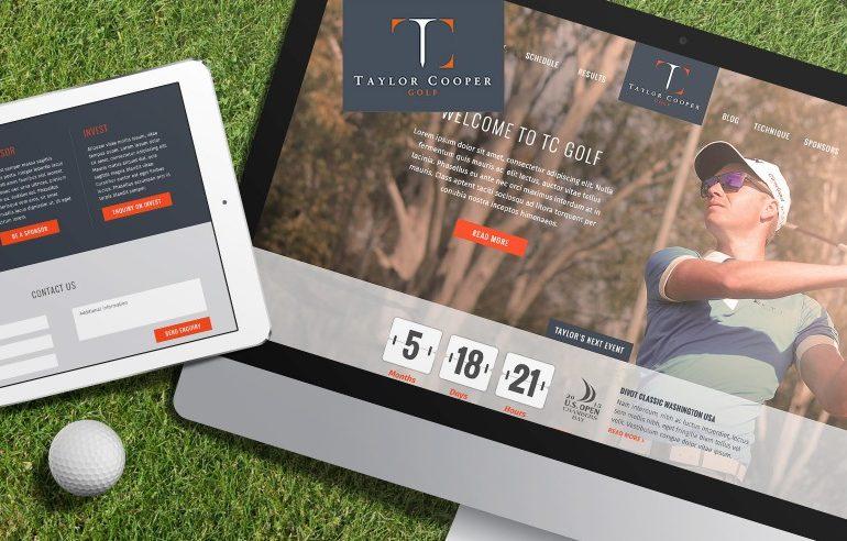 Website design for Taylor Cooper