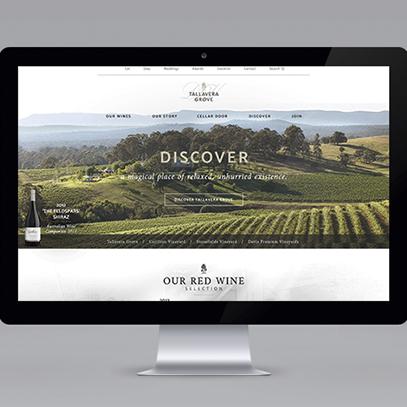 Website redesign for Tallavera Grove