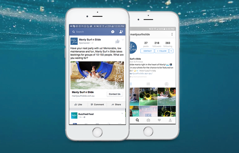 Social Media and Marketing for Manly Surf n Slide