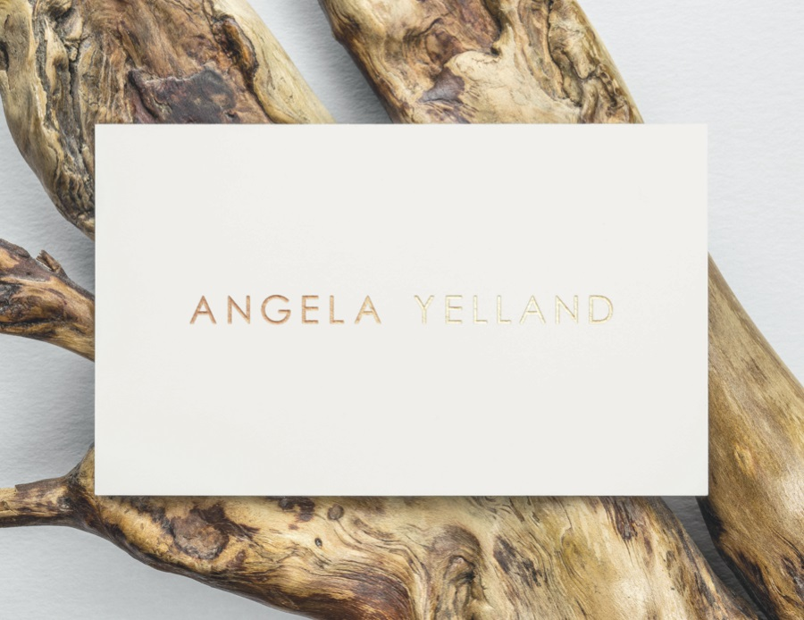 Graphic design for Angela Yelland