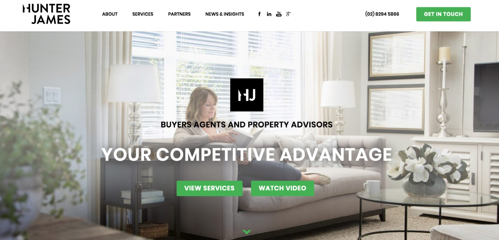 Web design for Hunter James