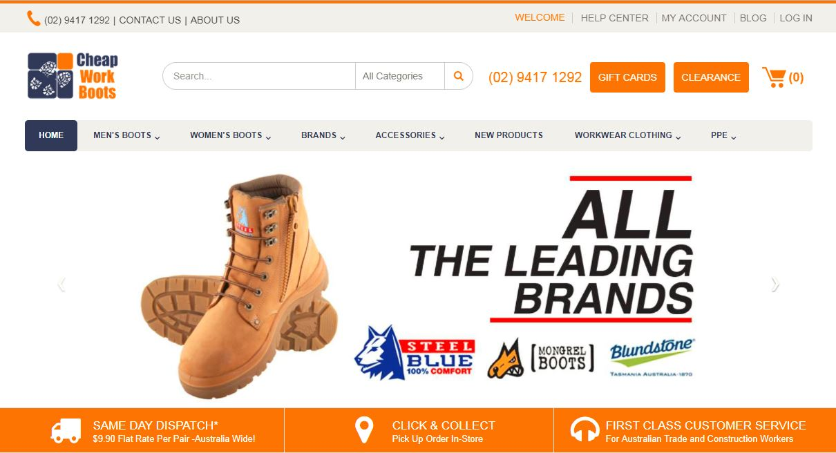 Cheap Work Boots website